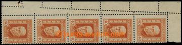 206862 -  Pof.187, Neotypie 40h oranžová, levá horní svislá 5-p�