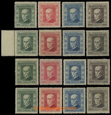 206864 - 1923 Pof.176-179, Jubilejní, kompletní sestava podle průsvit