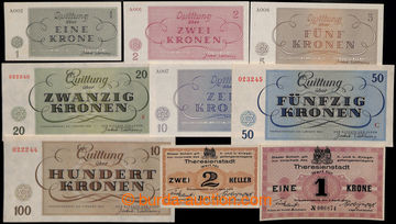 206902 - 1943 TEREZÍN 1-7, kompletní sada bankovek terezínského gheta