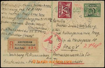 206907 - 1943 NIZOZEMSKO - GHETTO TEREZÍN /  I. díl z nizozemské dvoj