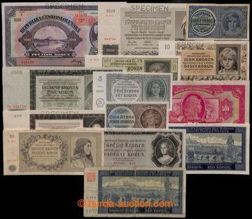 206911 - 1939-1945 PARTIE / 14ks protektorátních bankovek, mj. nevyda