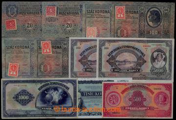 206913 - 1919-1939 PARTIE / 26ks bankovek, oběhové i specimen, mj. Ba