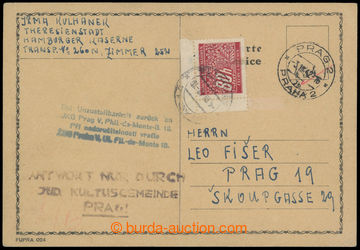 206955 - 1942 GHETTO TERESIENSTADT - PROTECTORATE / PC without franki