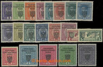 206989 - 1918 Pof.RV1-21, Pražský přetisk I. 3h - 10K, hodnota 10K tm