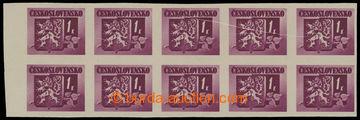 207088 - 1945 Pof.364VV, Bratislavské 1K, krajový 10-blok, složka pře