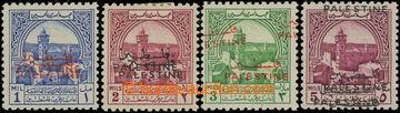 207091 - 1948 JORDÁNSKÁ OKUPACE (Západní břeh), Příplatkové Mi.1-4; 1