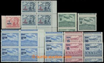 207095 - 1949 Pof.L29-32, Přetisková provizoria, série s horními a do