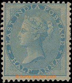 207099 - 1856 SG.38, Viktorie 1/2A světle modrá, bez průsvitky; část