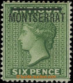 207112 - 1876 MONTSERRAT  SG.2b, Viktorie Perkins, Bacon vydání pro A