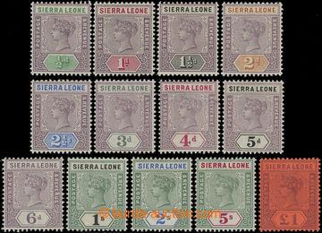 207115 - 1890 SG.41-53, Viktorie 1/2P-1£; kompletní série v mimo