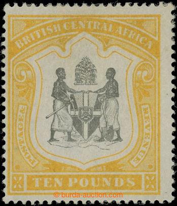 207118 - 1897 SG.52, Znak £10 yellow black, průsvitka CC; velmi