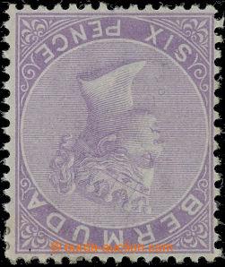 207126 - 1865 SG.7w, Viktorie 6P dull mauve, průsvitka CC PŘEVRÁCENÁ;