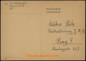 207147 - 1942 GHETTO TEREZÍN - PROTEKTORÁT / dopisnice bez frankatury