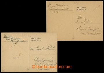 207148 - 1942-1943 GHETTO TEREZÍN - PROTEKTORÁT / dvě dopisnice bez f