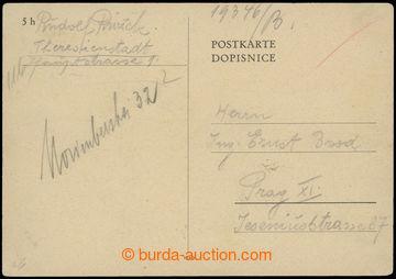 207154 - 1944 GHETTO TEREZÍN - PROTEKTORÁT / dopisnice bez frankatu