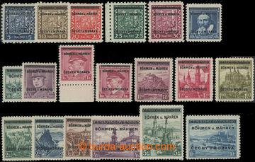 207184 - 1939 Pof.1-19, kompletní série, pěkná kvalita
