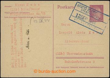 207239 - 1944 NĚMECKO - GHETTO TEREZÍN  / německá dopisnice Mi.P299 p