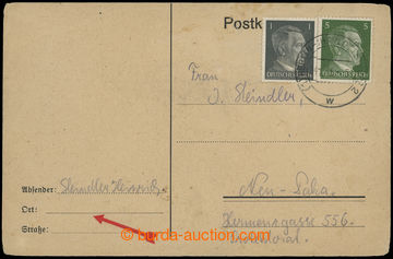 207257 - 1945 GHETTO TEREZÍN - PRACOVNÍ TÁBORY /  dopisnice adreso