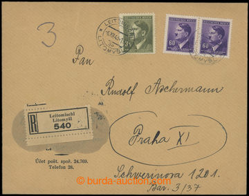 207258 - 1943 ZVLÁŠTNÍ TÁBOR HAGIBOR  R-dopis adresovaný do shromažďo