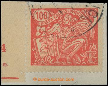 207275 - 1926 Pof.173A DČ, 100h červená s levým okrajem a DČ 4, na vý