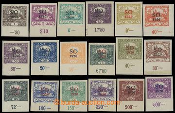 207282 - 1920 Pof.SO1-SO23, sestava 15ks Hradčany 1h - 1000h (bez SO3