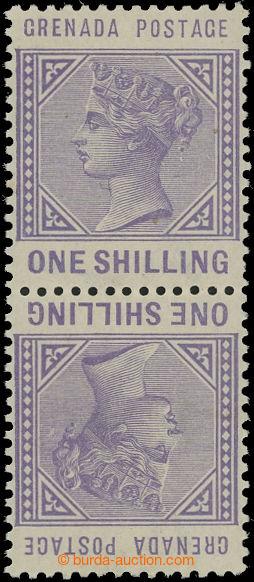207287 - 1883 GRENADA  SG.36a, Viktorie 1Sh světle fialová, protichůd