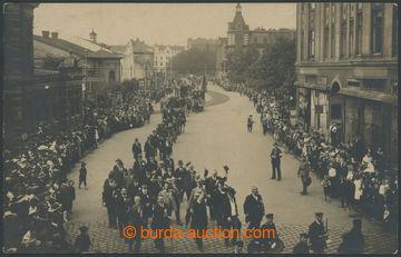 207319 - 1920 MORAVSKÁ OSTRAVA - průvod dnešní Nádražní třídou (divad