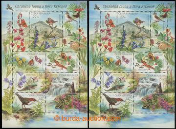 207346 - 2005 Pof.A439-442, aršík Krkonoše, fialové zvonky, k tomu ar