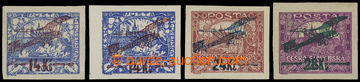 207419 -  Pof.L1-L3, I. provisional air mail stmp., complete imperfor