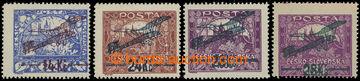 207420 -  Pof.L1A, L2A, L3B, I. provisional air mail stmp., 14/200h a