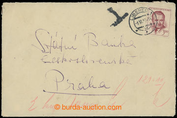 207435 - 1953 1. TESTER / letter franked according to rate platného t
