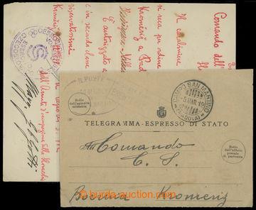 207513 - 1918 VELITELSTVÍ KROMĚŘÍŽ  ručně psané pověření pro speciáln