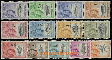 207530 - 1961 SG.42-54, Alžběta II. 1/2C-1R; svěží, kompletní série,
