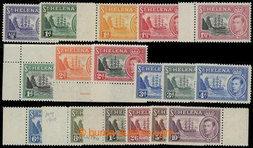207534 - 1938-1944 SG.131-140, Jiří VI. Znak Kolonie 1/2P-10Sh; svěží
