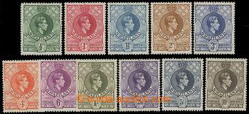 207547 - 1938-1954 SG.28-38, Jiří VI. 1/2P - 10Sh; kompletní svěží sé
