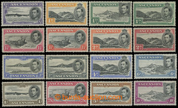 207557 - 1938-1953 SG.38-47, Jiří VI. Motivy ½P - 10Sh, dlouhá s