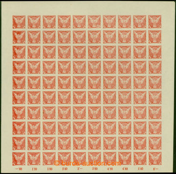 207630 - 1918 Pof.NV1, NV3, Sokol v letu, hodnota 2h zelená a 6h červ