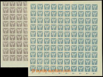 207631 - 1918 Pof.NV4, NV5, Sokol v letu, hodnota 10h fialová bez poč