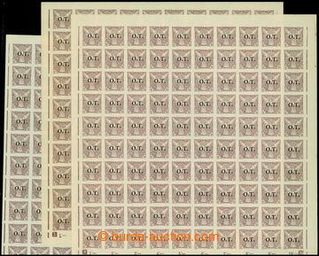 207633 -  Pof.OT1, Známky pro obchodní tiskopisy 10h fialová, sestava