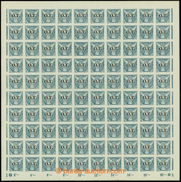 207634 -  Pof.OT2,  Známky pro obchodní tiskopisy 20h modrá, kompletn