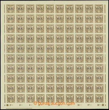 207635 -  Pof.OT3 ST, Známky pro obchodní tiskopisy 30h hnědá, komple