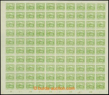 207646 -  Pof.3, 5h zelená, kompletní 100ks arch, TD 1; svěží, svislý