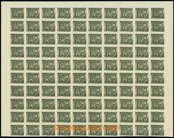 207728 - 1945 Pof.371ST, Bratislavské 10K, horní 100ks polovina archu