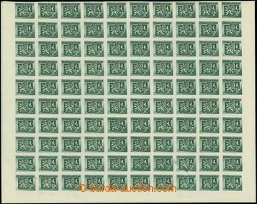 207729 - 1945 Pof.369B, Bratislavské 4K, dolní 100ks polovina archu s