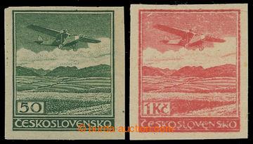 207800 -  ZT zkusmý tisk hodnoty 50h a 1Kč v původní zelené a červené