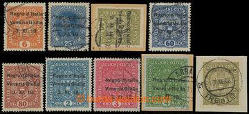 207829 - 1918 TRENTINO a VENZIA GIULIA, Sass.10 a Sass.3, 8, 10, 12 *