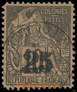 207869 - 1888 Mi.9, 25C/10C přetiskové provizorium na všeobecném vydá
