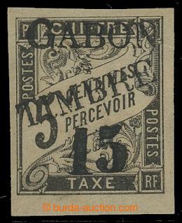 207870 - 1889 Mi.11, přetisková GABON TIMBRE 15C/5C, na koloniální do