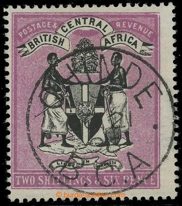 207880 - 1896 SG.37, Znak 2Sh6p černá / červenofialová s DR CHINDE OC