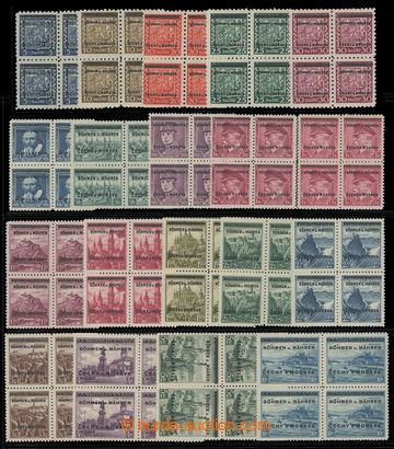 207883 - 1939 Pof.1-19, kompletní série ve 4-blocích; velmi pěkná kva